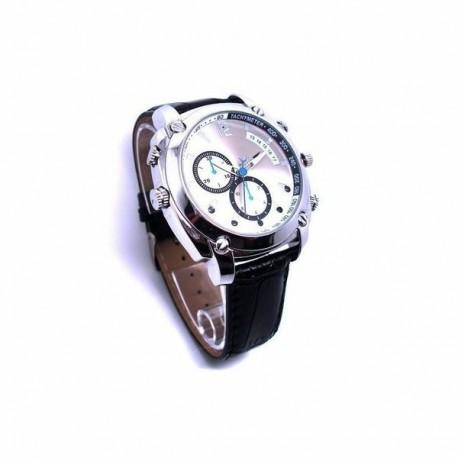 Montre Mini Caméra Cachée HD 1080P 8Go gris Vision nocturne waterproof