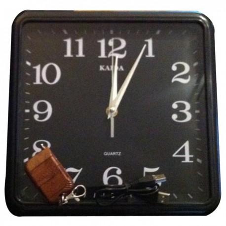 Horloge carrée Caméra Cachée 4Go de mémoire télécommandée