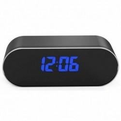 Réveil Micro Caméra Vidéo Surveillance Full HD 1080P Wifi vision nocturne noir