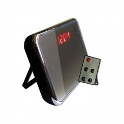 Réveil Micro camera miroir télécommandée