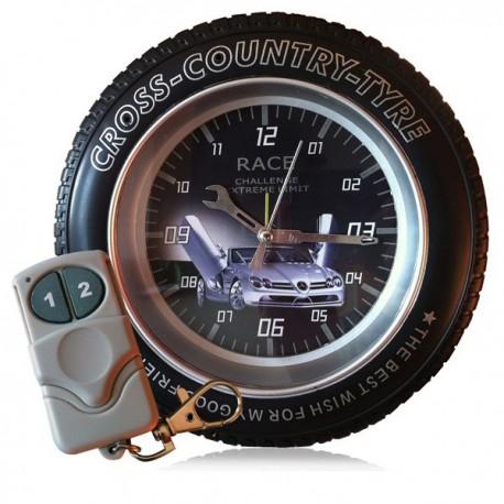 Réveil caméra espion DVR roue cross 4Go télécommandé