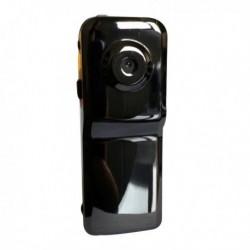 Mini caméra de surveillance et sport métal noire brillant