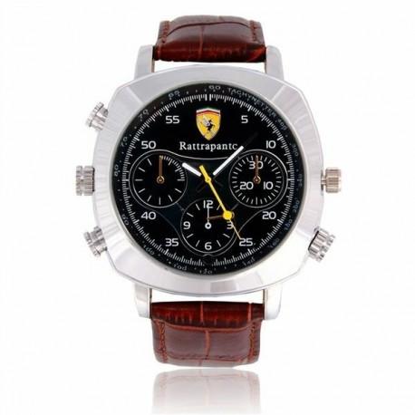 Montre camera spy espion HD 720P 8Go à bracelet simili cuir