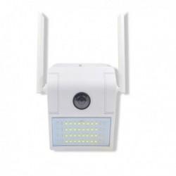 Lampe extérieur à caméra Full HD 1080P vision de nuit et audio bidirectionnel
