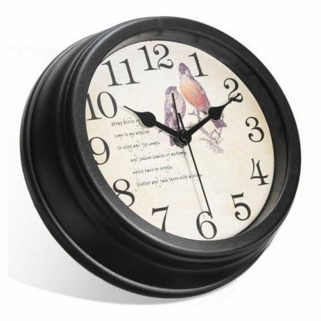 Horloge ronde Caméra Espion Cachée Full Haute défintion 1080P Wifi oiseaux
