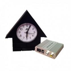 Horloge maisonnette caméra de surveillance avec récepteur (sans fil)