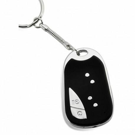 Porte-clés avec caméra espion gris noir