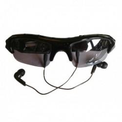 Lunettes en plastique avec verres teintés à camera espion + lecteur MP3